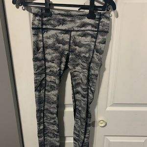 Lululemon Leggings Camo Grey
